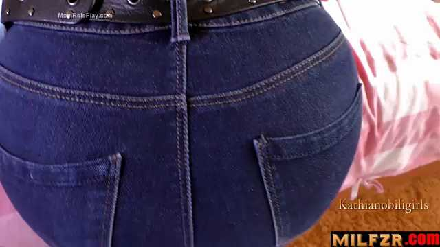 Son Cums On Mom's New Sexy Jeans