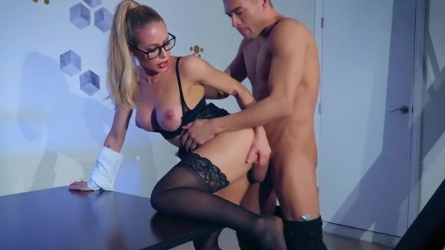Big Boobs Milf Nicole Aniston Hardcore sex with white dick