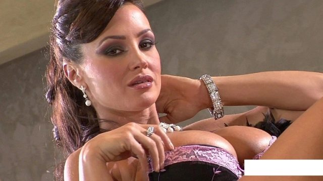 Cougar Lisa Ann Sits On Bed With Dick In Mouth – cum in pussy