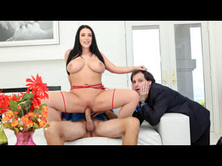 PAWG Milf Angela White cuckold husband with huge white dick