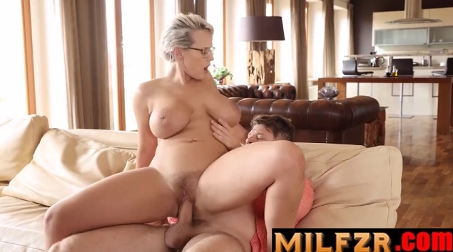 Busty Blonde Stepmom Drilled By Stepson
