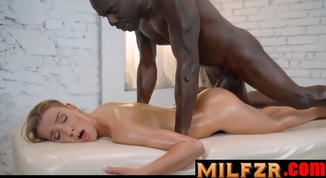 Hot MILF Interracial Massage and BBC Fucking