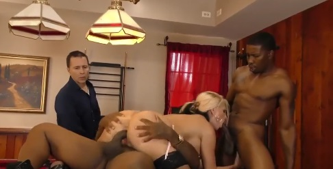 Alena Croft Takes 2 Black Cocks For Cuckold Hubby