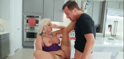 Big Tit Milf Alena Croft Fucked in Kitchen