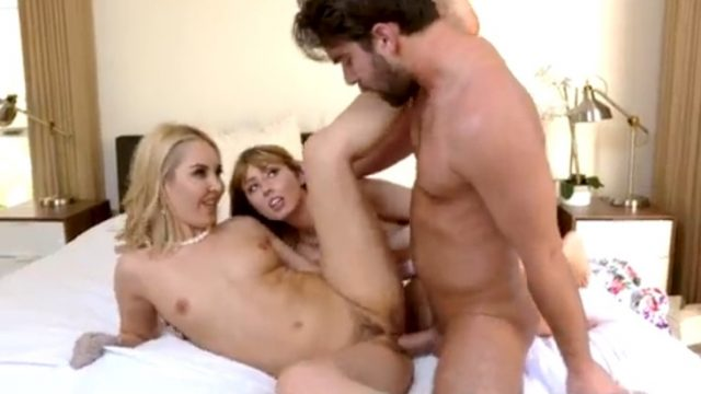 Horny MILF Threesome With Younger Couple