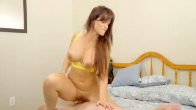 Slutty MILF Rides Cock and Gets Creampied