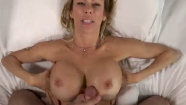 MILF Alexis Faux Fucked and Cum On Big Tits