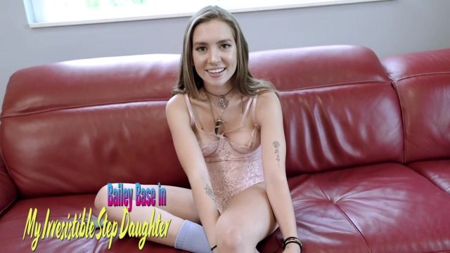 Bailey Base – cute teen step daughter fucks step dad while study