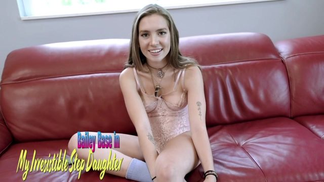 Sexy Step daughter Bailey Base incest sex with step father