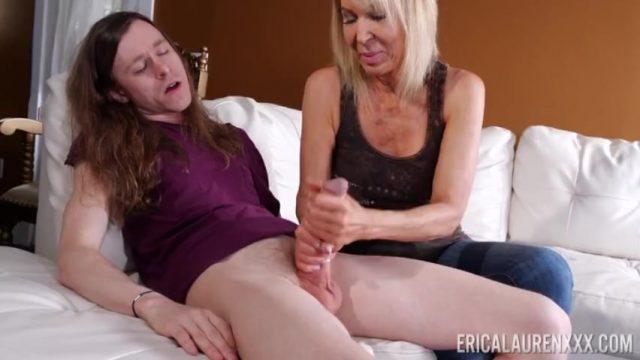 Stepmom Erica Lauren Milks Stepson For Warm Sticky Cum