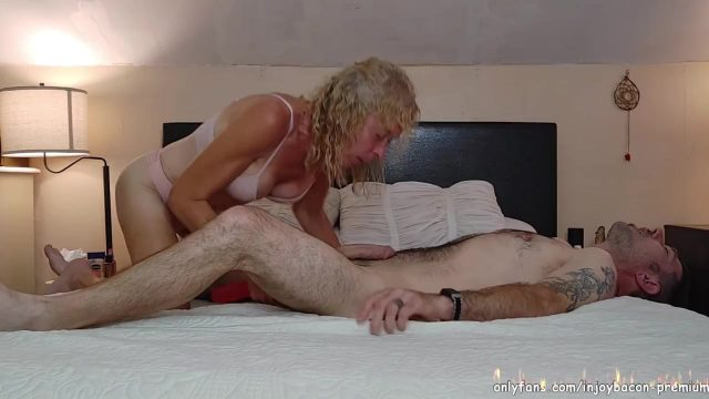 REAL COUPLE Passionate Pounding PUSSY to ASS Double ended Dildo PEGGING his ASS Intimate REAL SEX