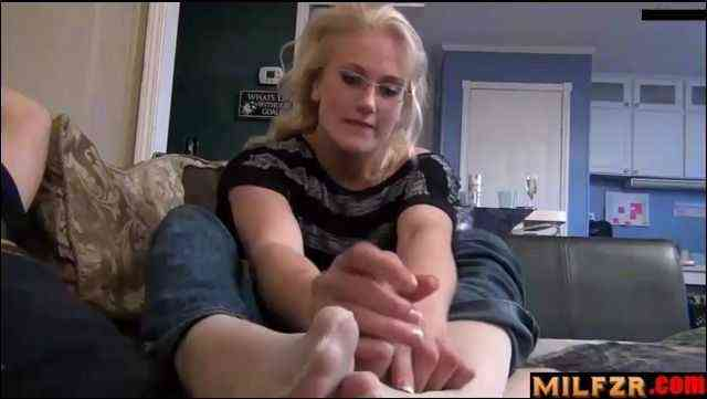 Bratty Sister Handjob Footjob Mom And Dad Unaware