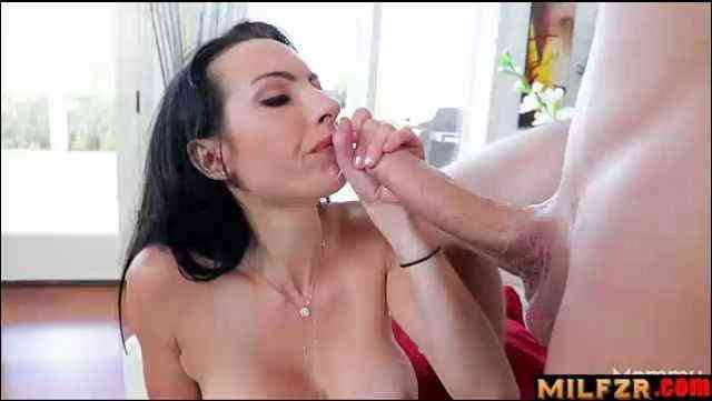Hot mommy blows son