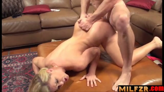 Sexy horny mother seduced son