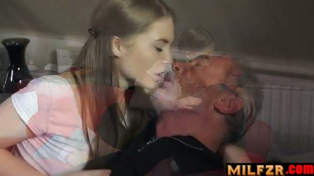 Young daughter loves to fuck old dad