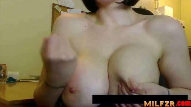 Suck my tits and jerk off son